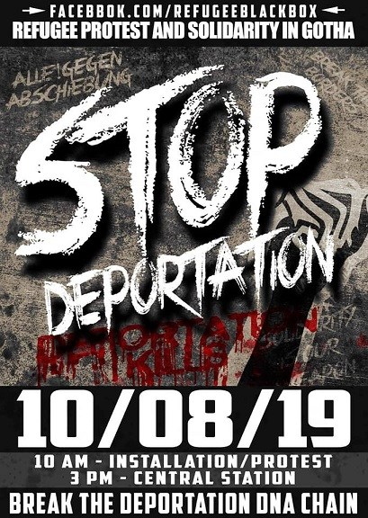 Stop Deportation! 10/08/19 in Gotha